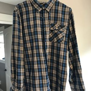 Oakley Mens Long Sleeve Casual Button Down  Large